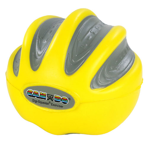 CanDo Digi-Squeeze Hand Exer Yellow Med Size X-Lt Strngth