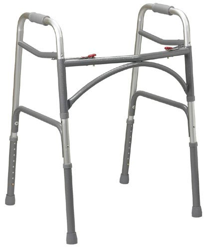 Double Button Extra-Wide Adult Folding Walker (Bariatric)