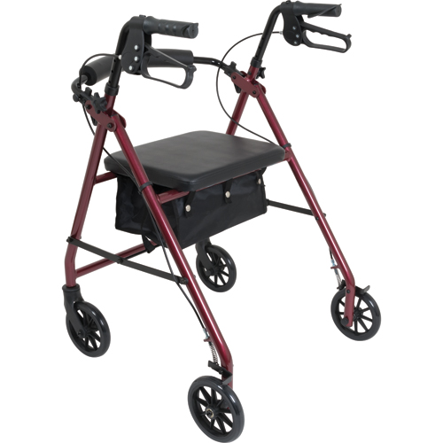 Aluminum Rollator w/Loop Brake Black (PMI) 4-Wheel