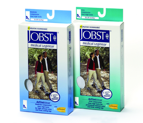 Jobst Active 20-30 Knee-Hi Socks Black Large