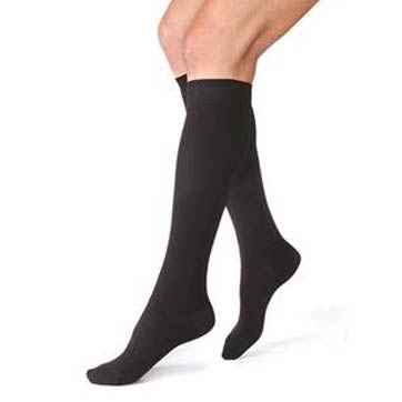 Closed Toe Knee High Stocking Black XL 30-40 mmHg Pair