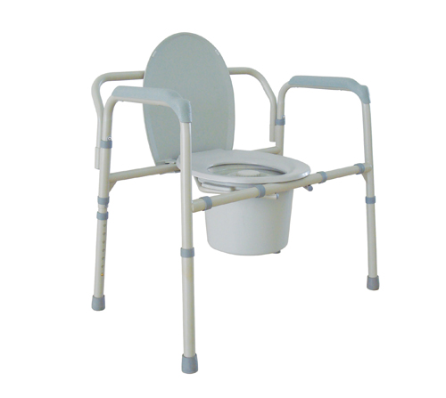 Bariatric Folding Commode 650 lb. Capacity