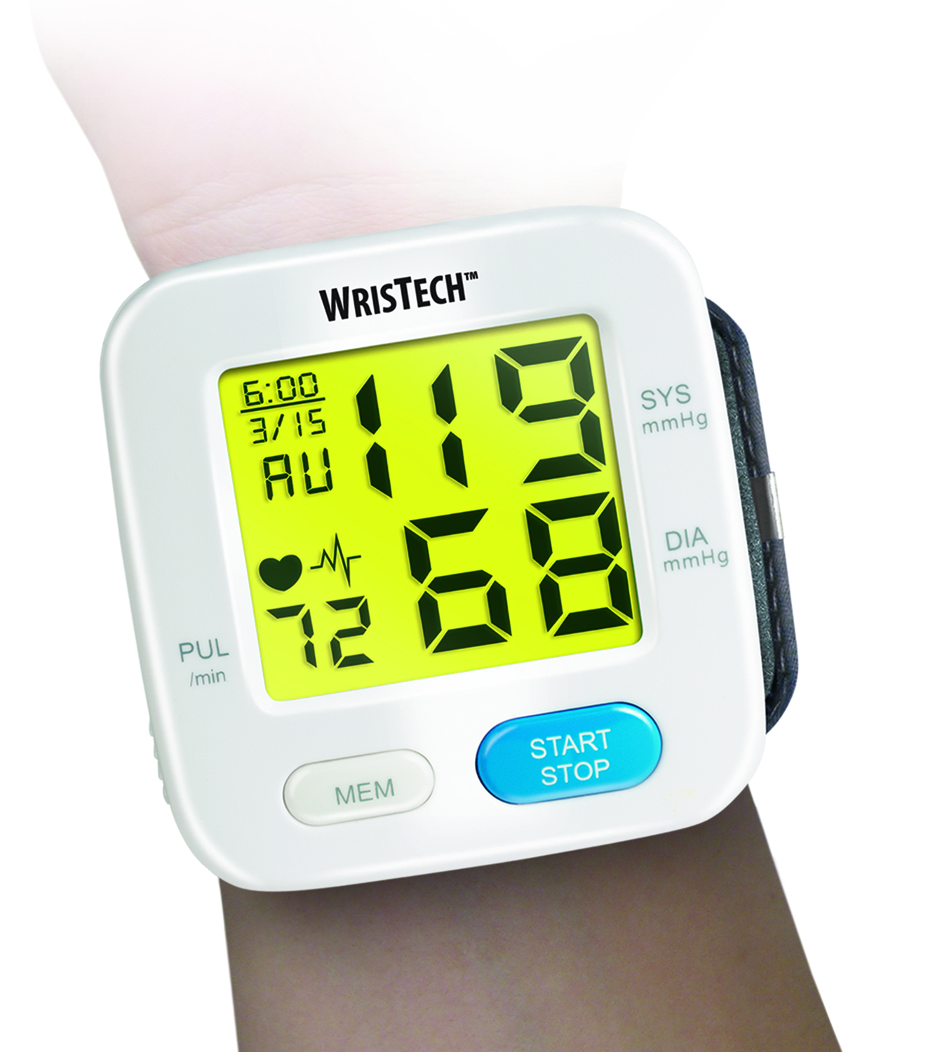 Wrist Blood Pressure Monitor Color Changing