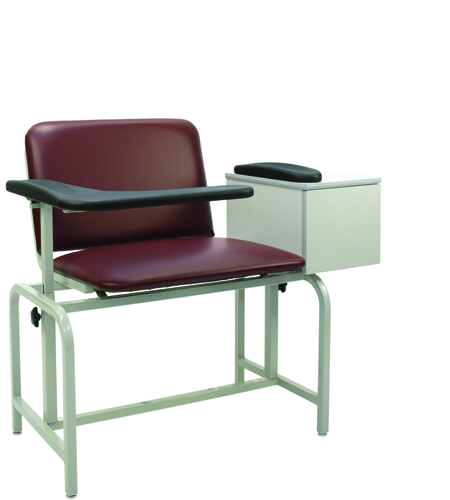 Bariatric X-Wide Padded Blood Drawing Chair w/ Cabinet