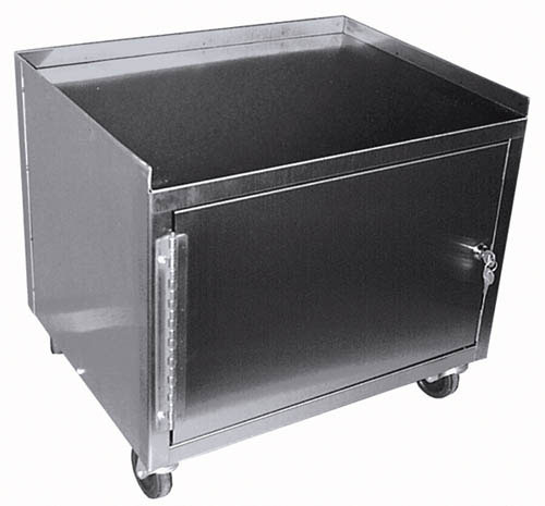 Cabinet Cart W/Drawer St/S Single Locking w/1 Shelf