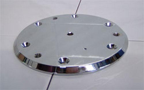 Advantage Rail Portable Floor Plate Silver